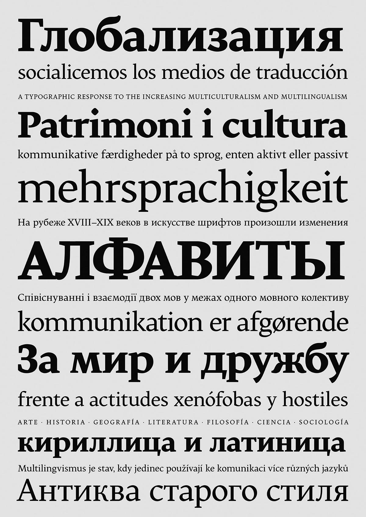 Cyrillic type design Latin tipografia