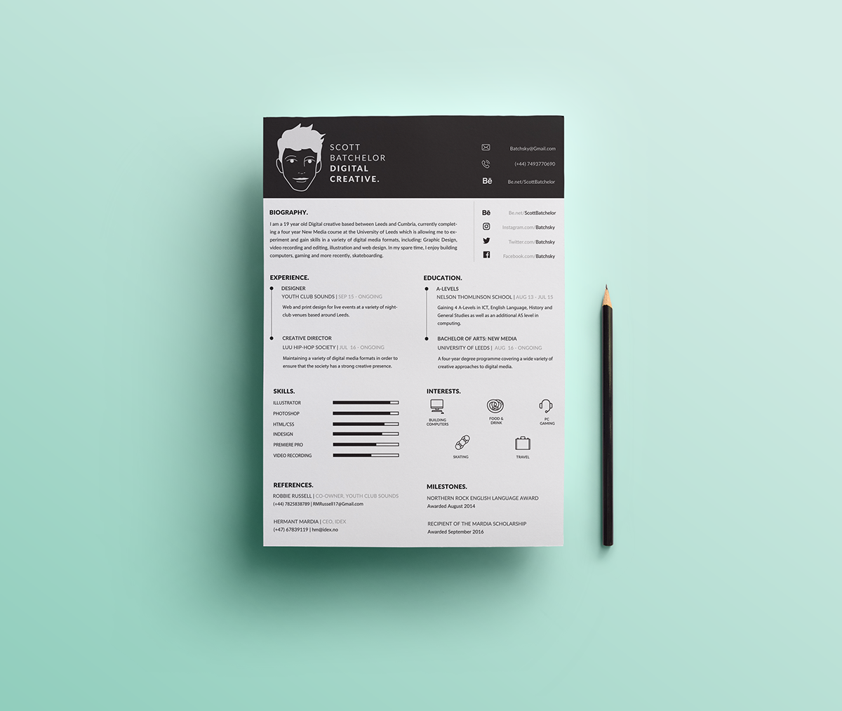 Free A4 CV & Covering Letter Templates on Behance