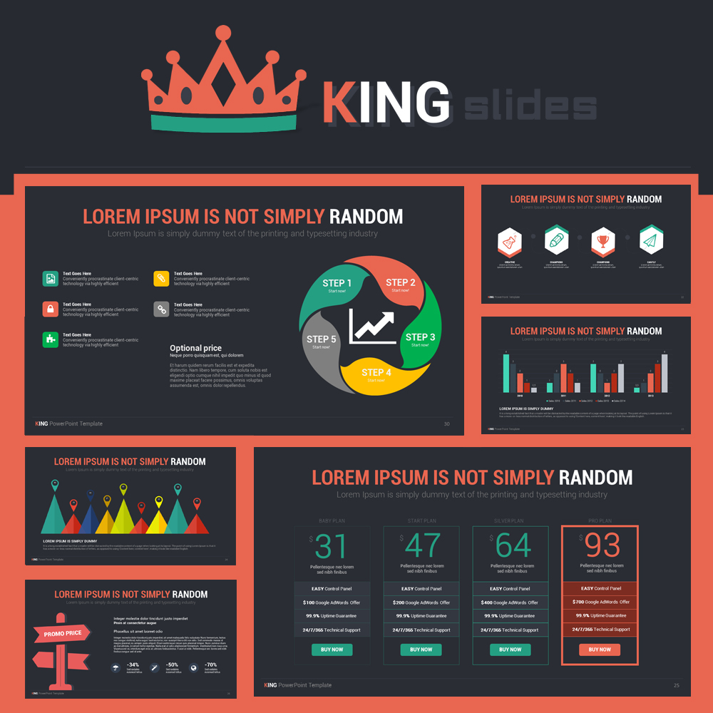 King Powerpoint Template On Behance