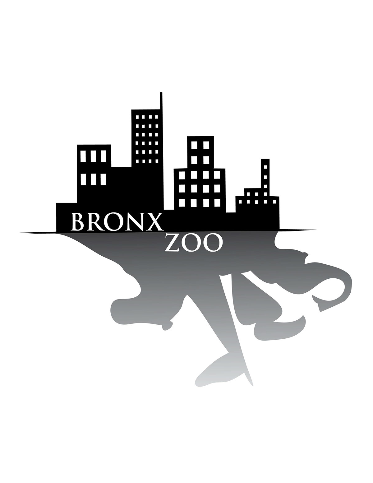 bronx zoo logo practice on behance