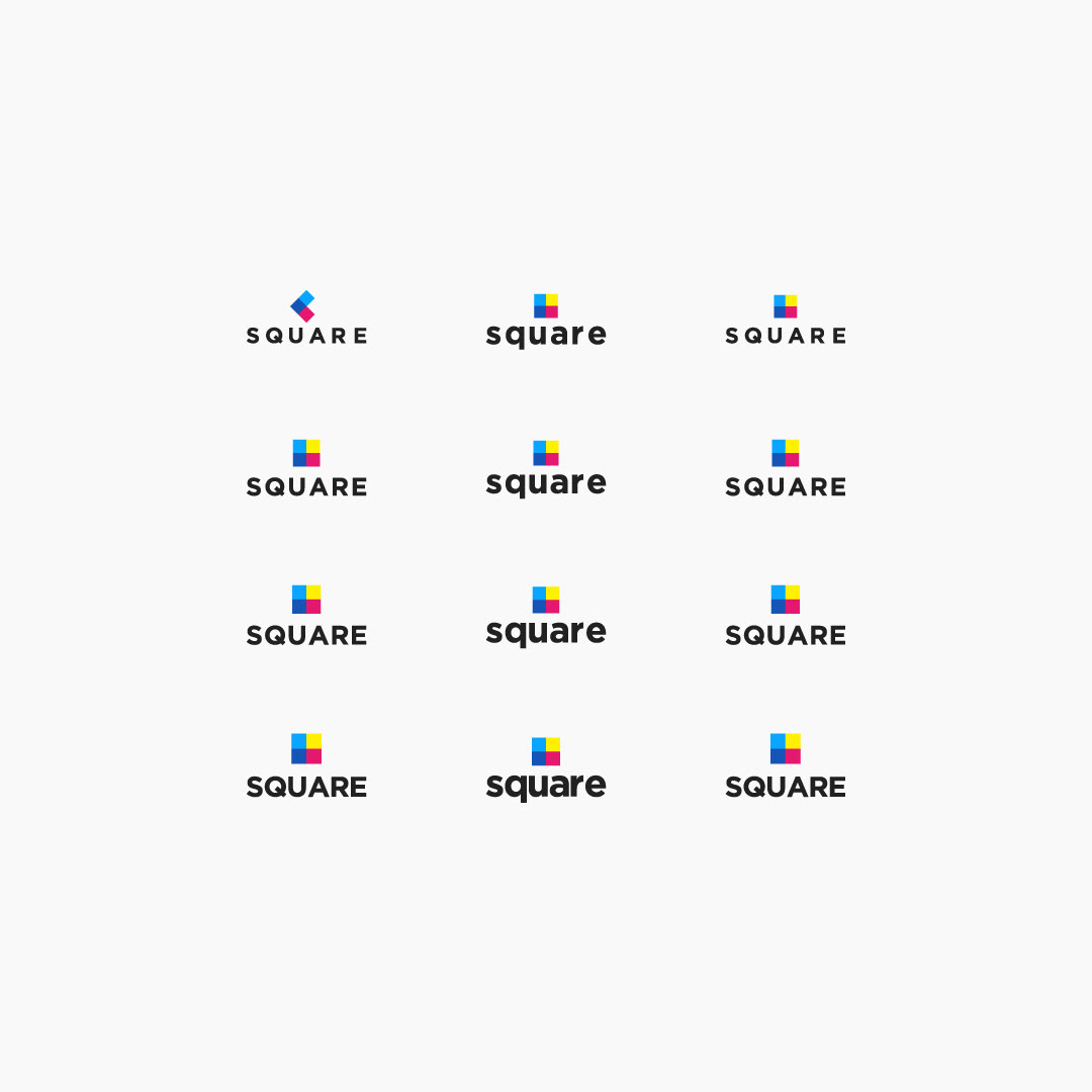 typography square lettering space