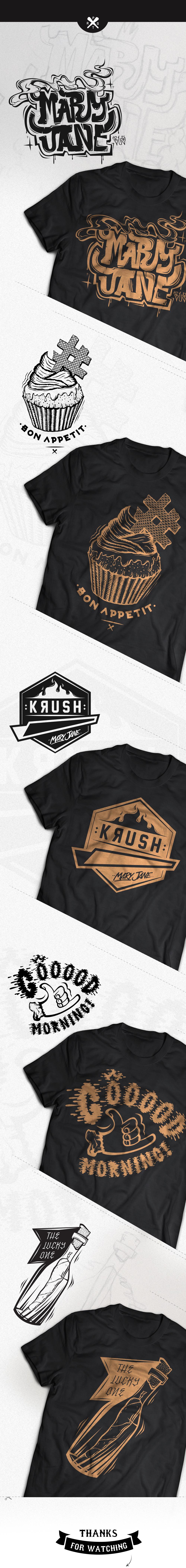 t-shirt hip hop koszulki Mary Jane vandals smoke