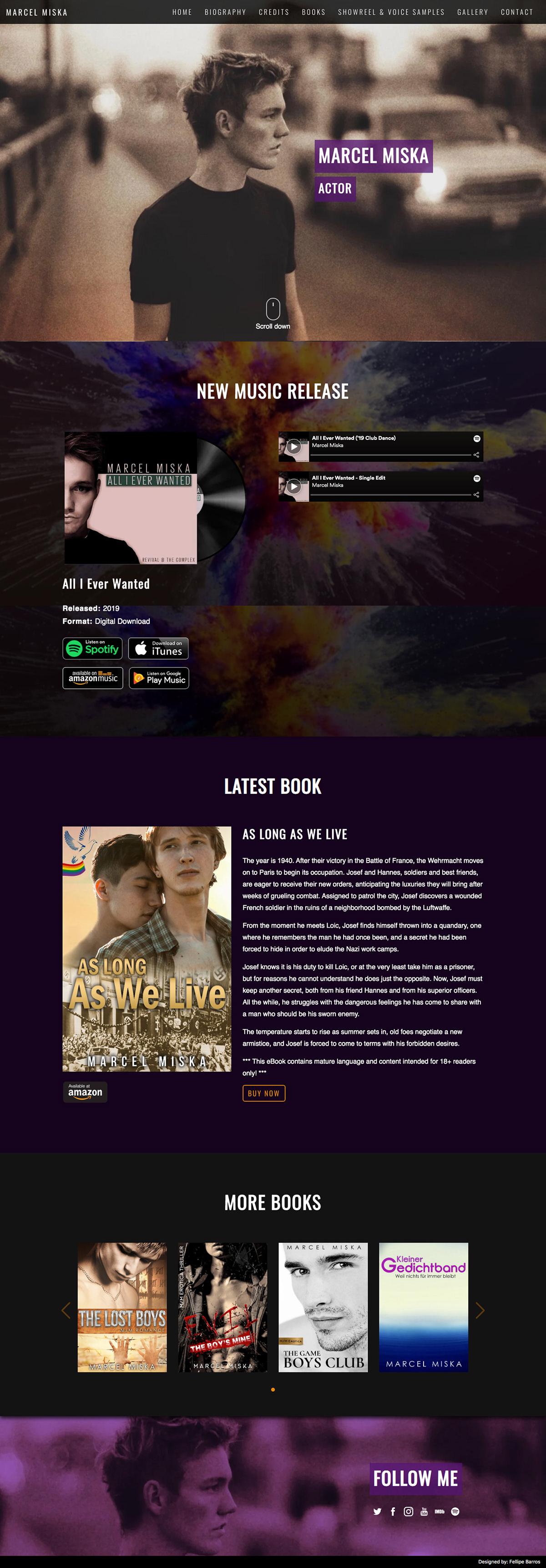 actor Website wordpress