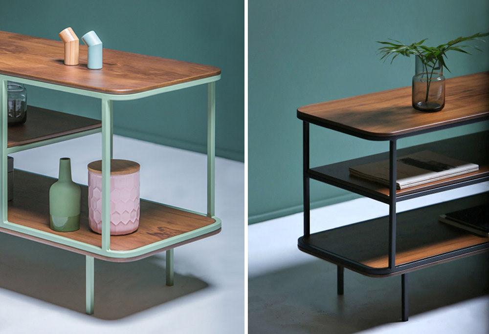 furniture sideboard design AC/AL studio KANN design wood steel