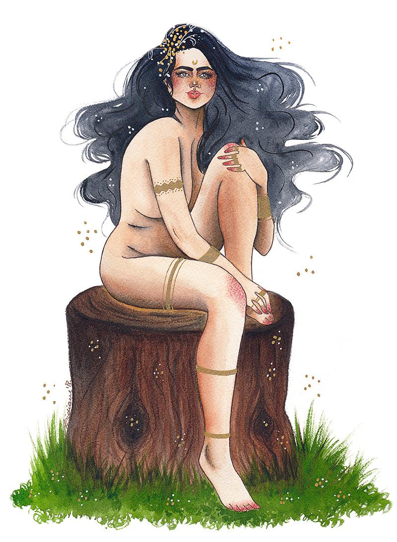 inktober fantasy art fairy