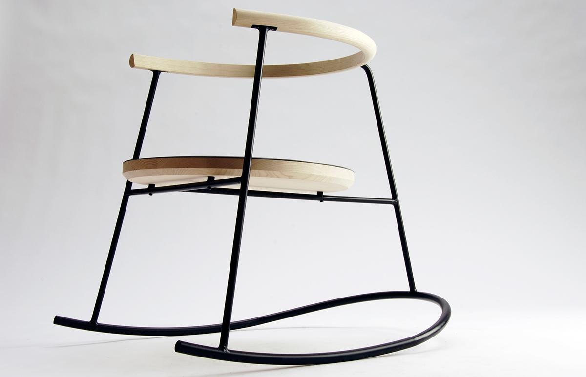 furniture chair rocking chair upholstry wood metal steel ash