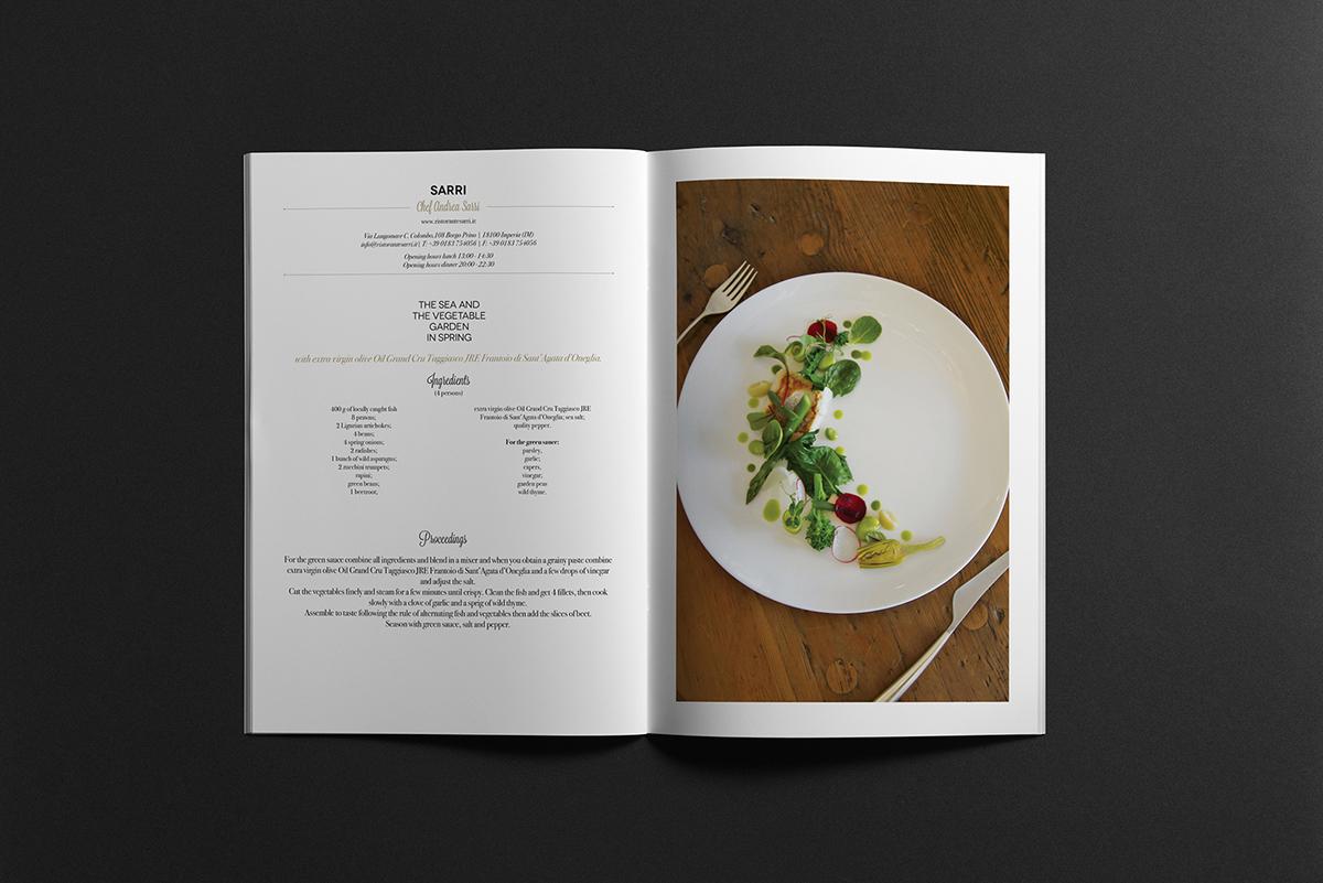 olio Pack etichetta frantoio ricettario brochure impaginazione recipes oil jreitalia