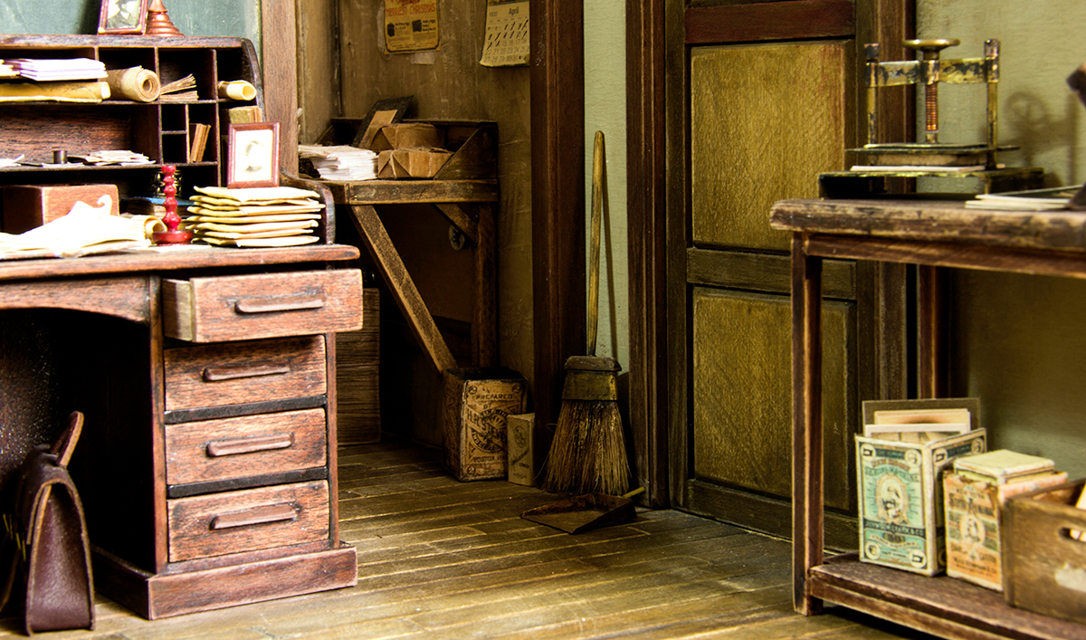 Miniature Photography Studio From The 1900s On Behance