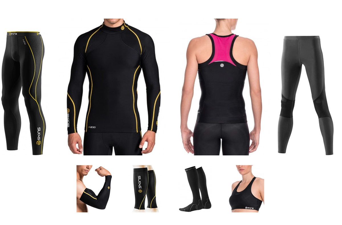 compression wear Sports apparel performance textiles fabric skins thermal layers running Tech Pack socks tights