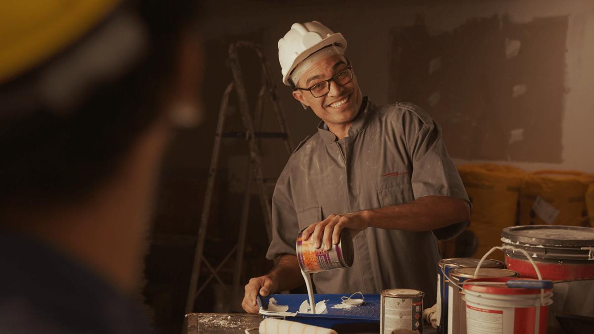 ads campanha comercial construção Filme loja tinta varejo