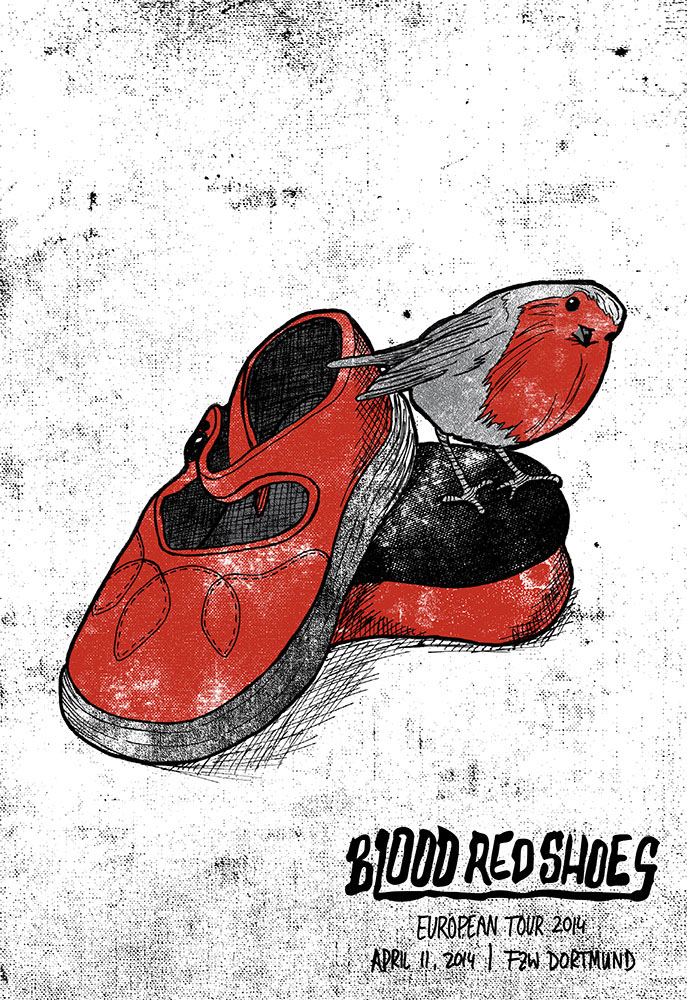 screenprint Blood Red Shoes Printing Screenprinting band