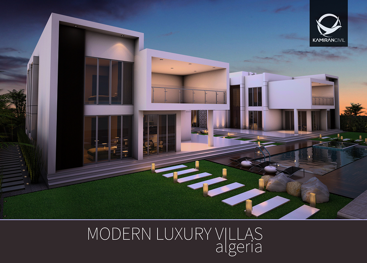 Modern luxury villas algeria on pantone canvas gallery