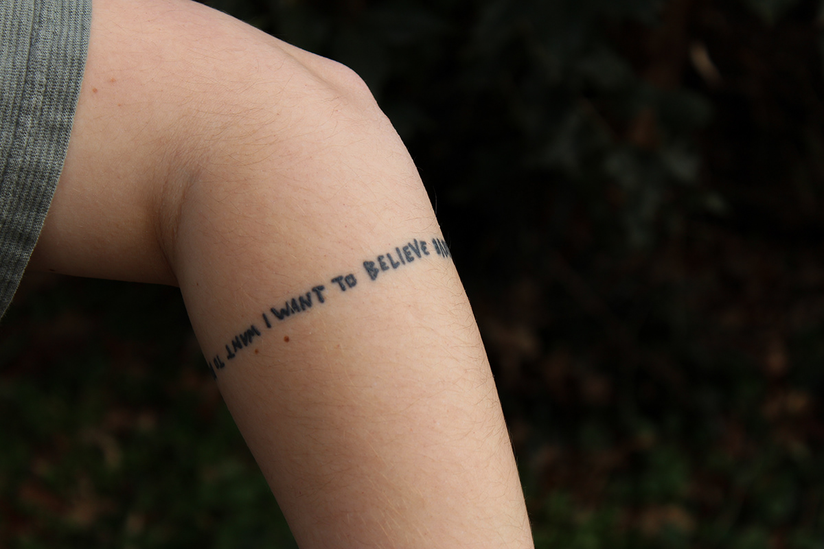 I Want To Believe Tattoo On Behance