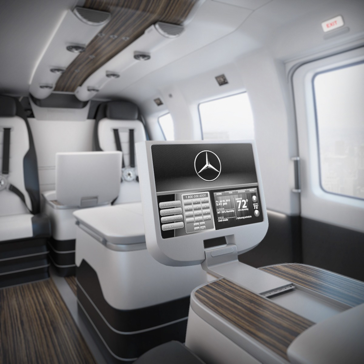Honda Private Jet Interior: Mercedes-Benz Style Luxury Helicopter Interior L 3D On Behance
