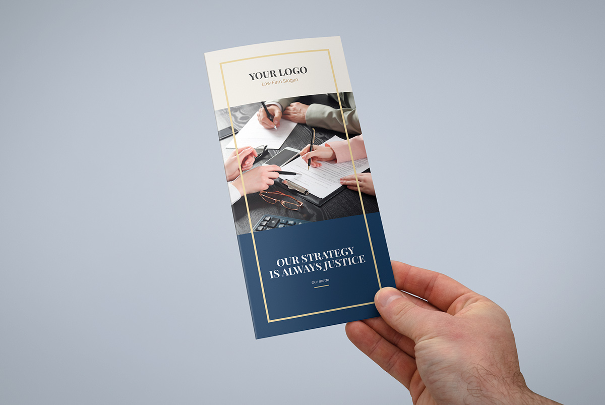 Brochure – Law Firm Tri-Fold Template on Pantone Canvas Gallery