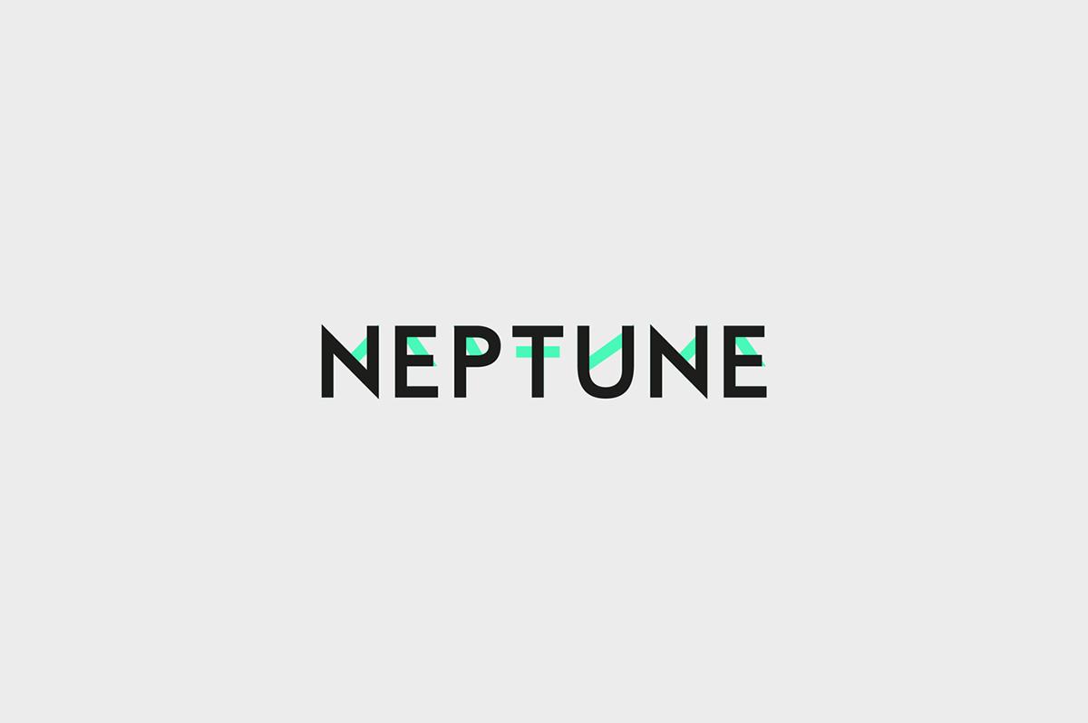 Typeface font type neptune poster sans serif face free typographic design Mockup