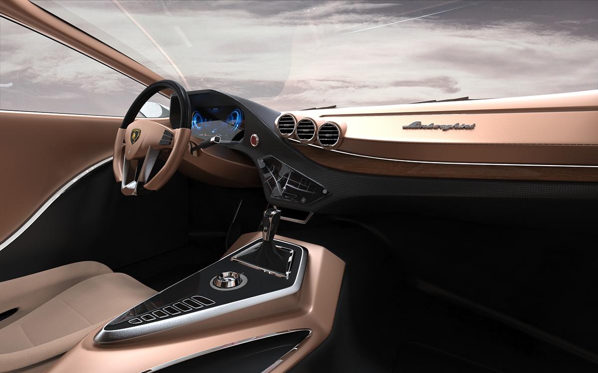 Lamborghini Edroid Interior Design On Pantone Canvas Gallery