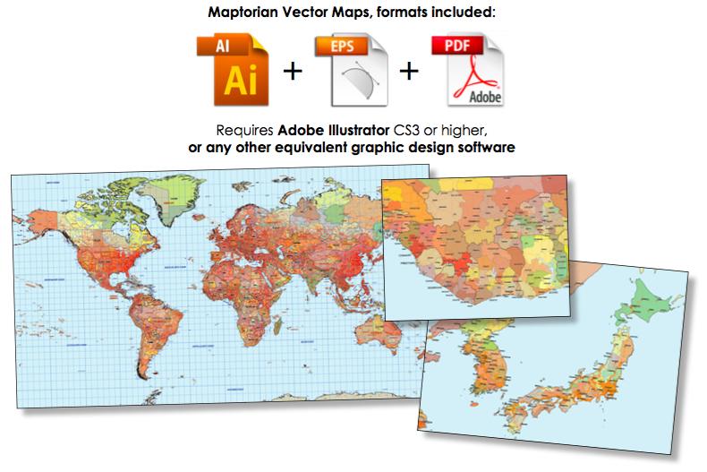 Maptorian World Vector Maps on Behance