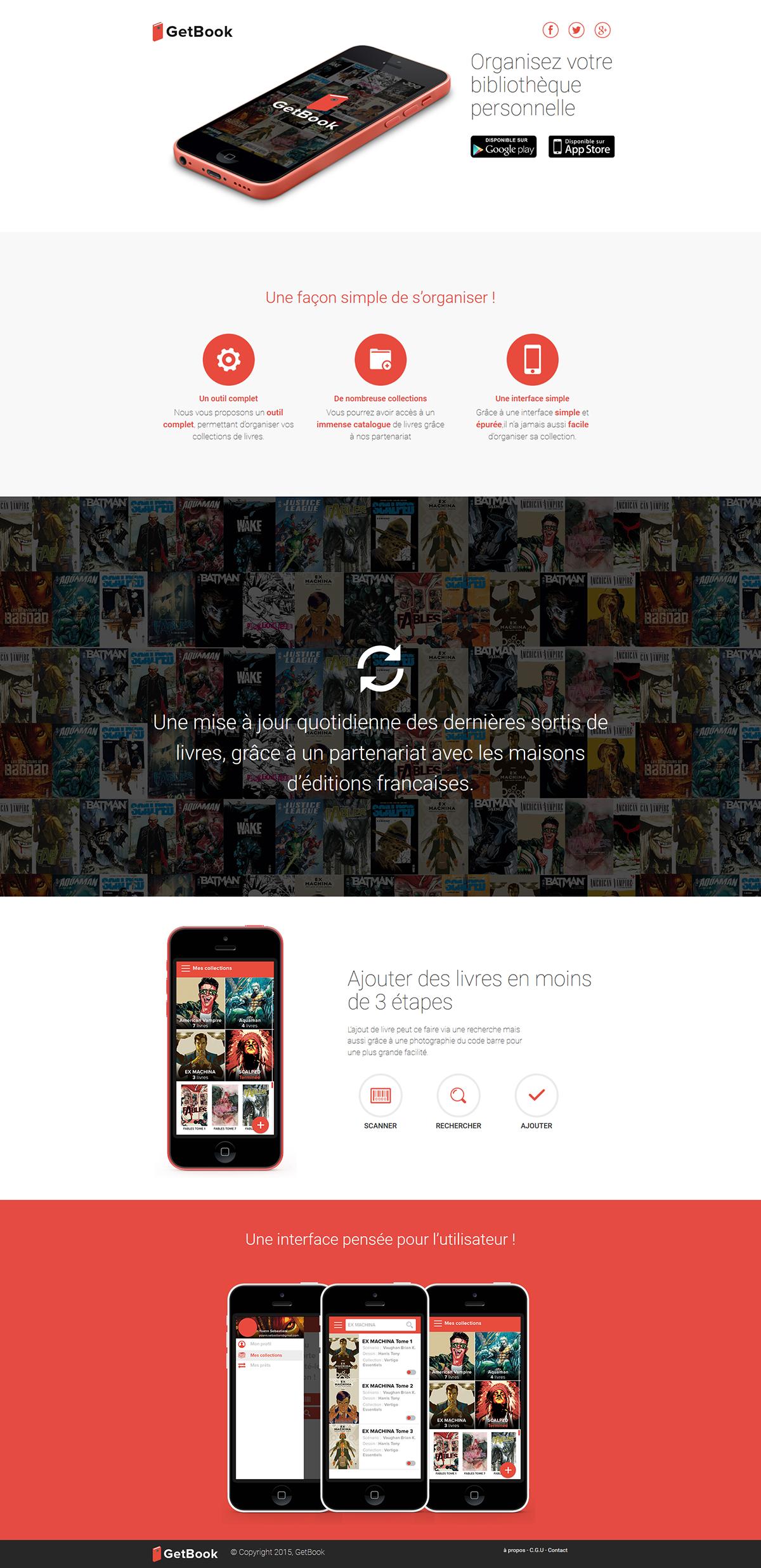 GetBook Webdesign site bootstrap application projet