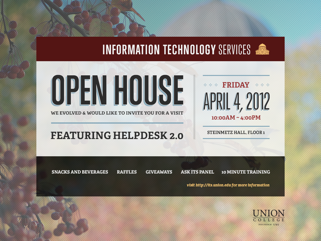 ITS Open House Invitation on Behance