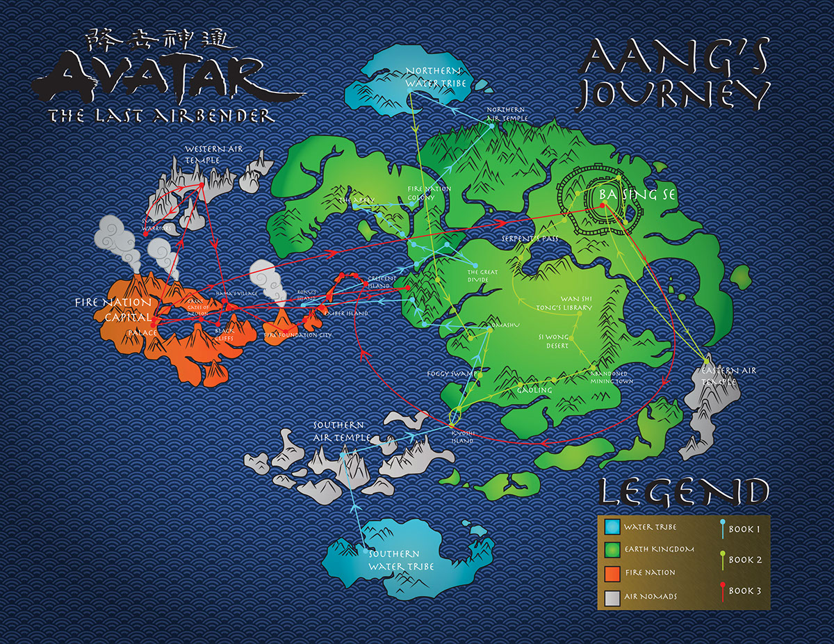 Avatar: The Last Airbender Map on Behance