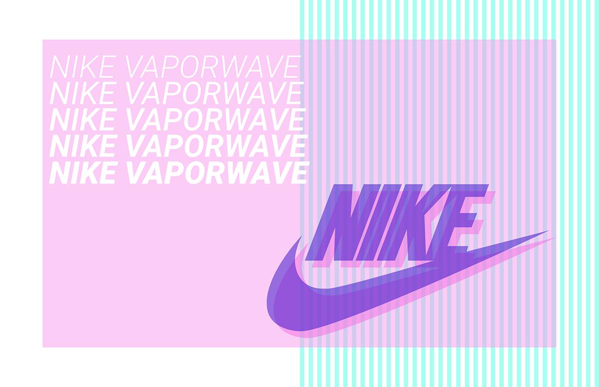 Nike X Vaporwave concept on Behance