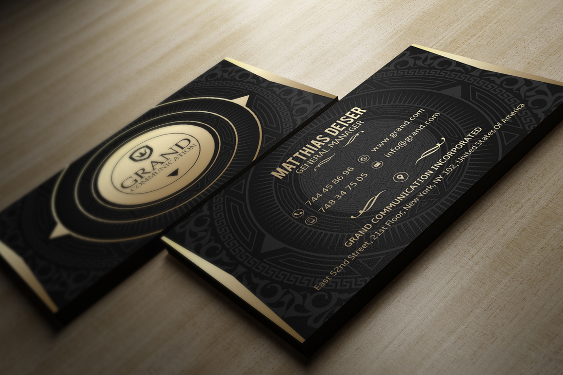 Gold business card bundle 15 templates on behance reheart