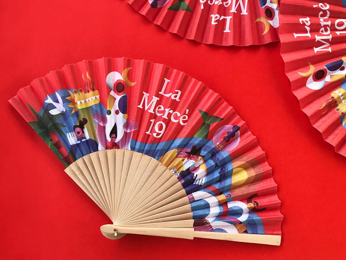 design campaign barcelona maria corte ILLUSTRATION  geometry graphic design  art direction  la merce festival