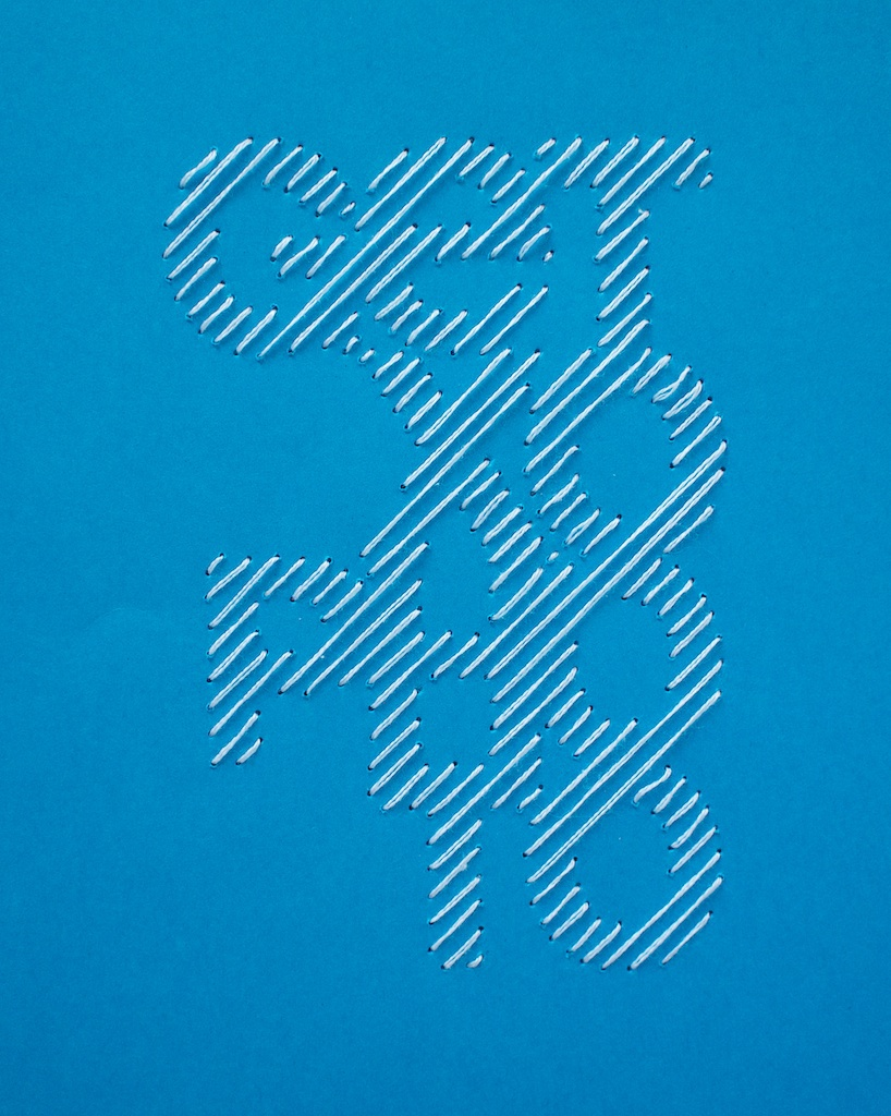 cross stitch Getxophoto IS Creative Studio poster embroided type
