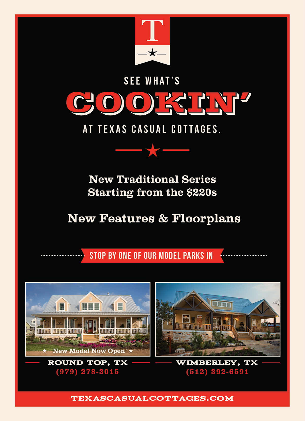 Texas Casual Cottages Drip Campaign on Behance