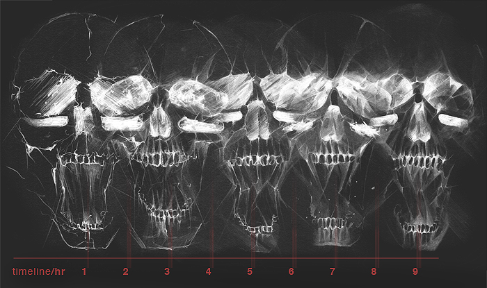alexis Marcou Nike footlocker commission t-shirt nike usa skull Living Dead just do it
