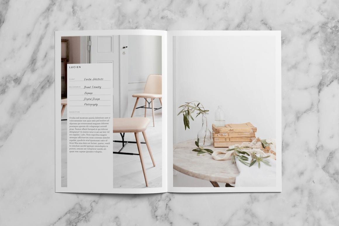 studio standard portfolio template feminine Layout design pale nude