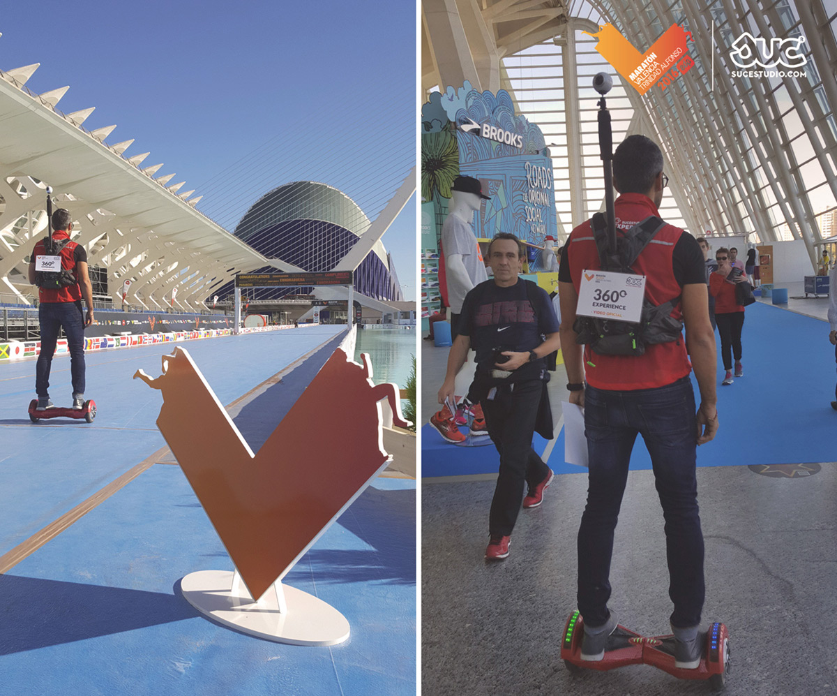 Video 360 360VR virtual 360 experinece maraton valencia running