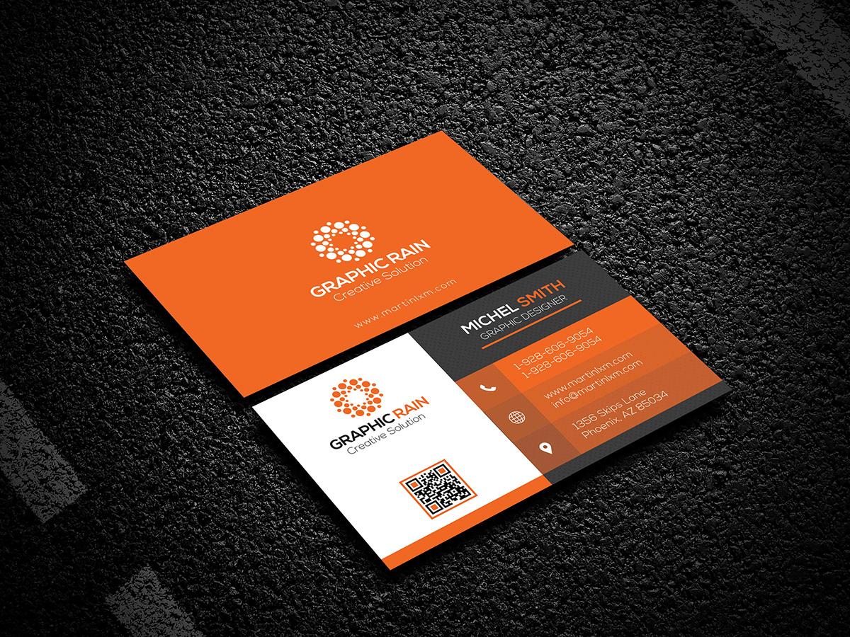 psd business card template on behance
