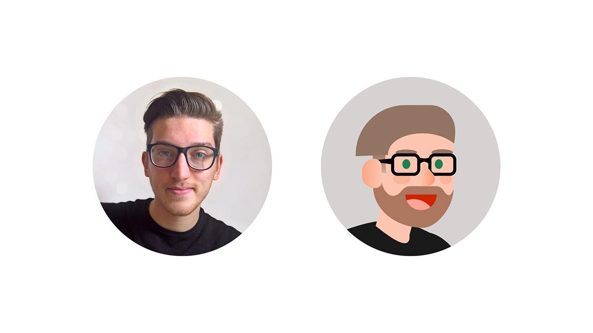 Image may contain: cartoon, human face and glasses