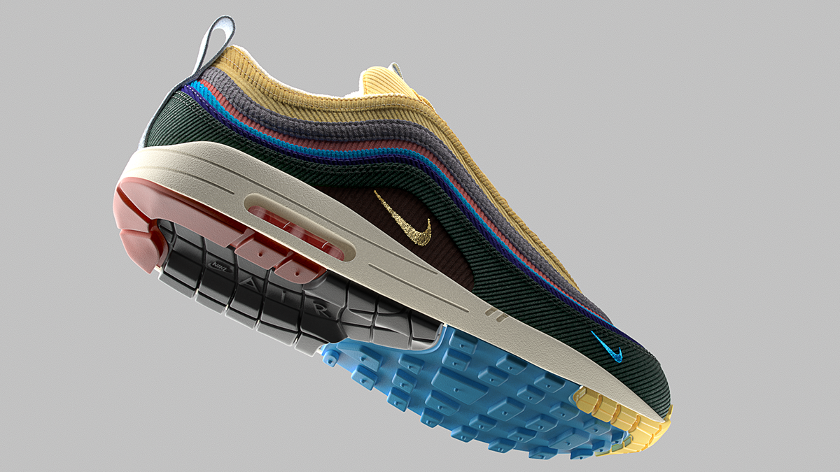 897e856bb9a Nike Air Max 1/97 Sean Wotherspoon 3D on Behance