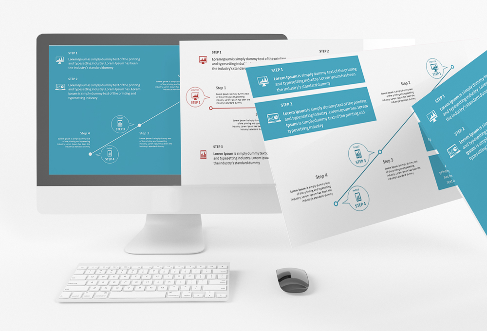 free download powerpoint step template on behance