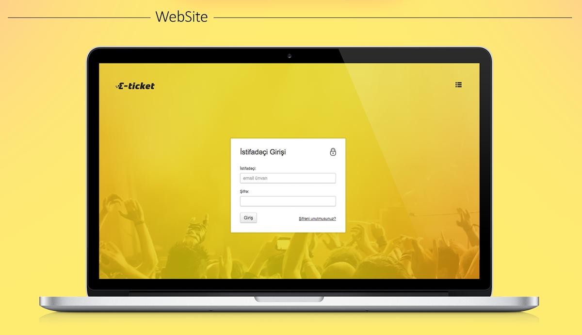E-ticket | Online Ticketing System on Wacom Gallery