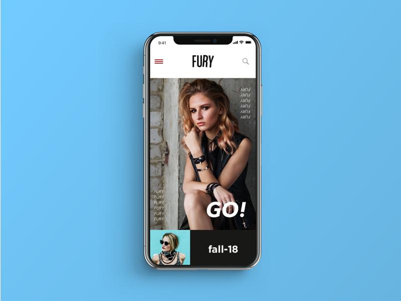 ui ux app Fashion  mobile UI VisualDesign