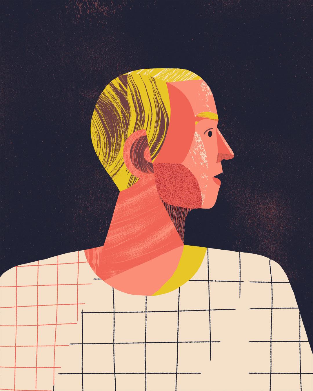 portrait pattern texture face Character