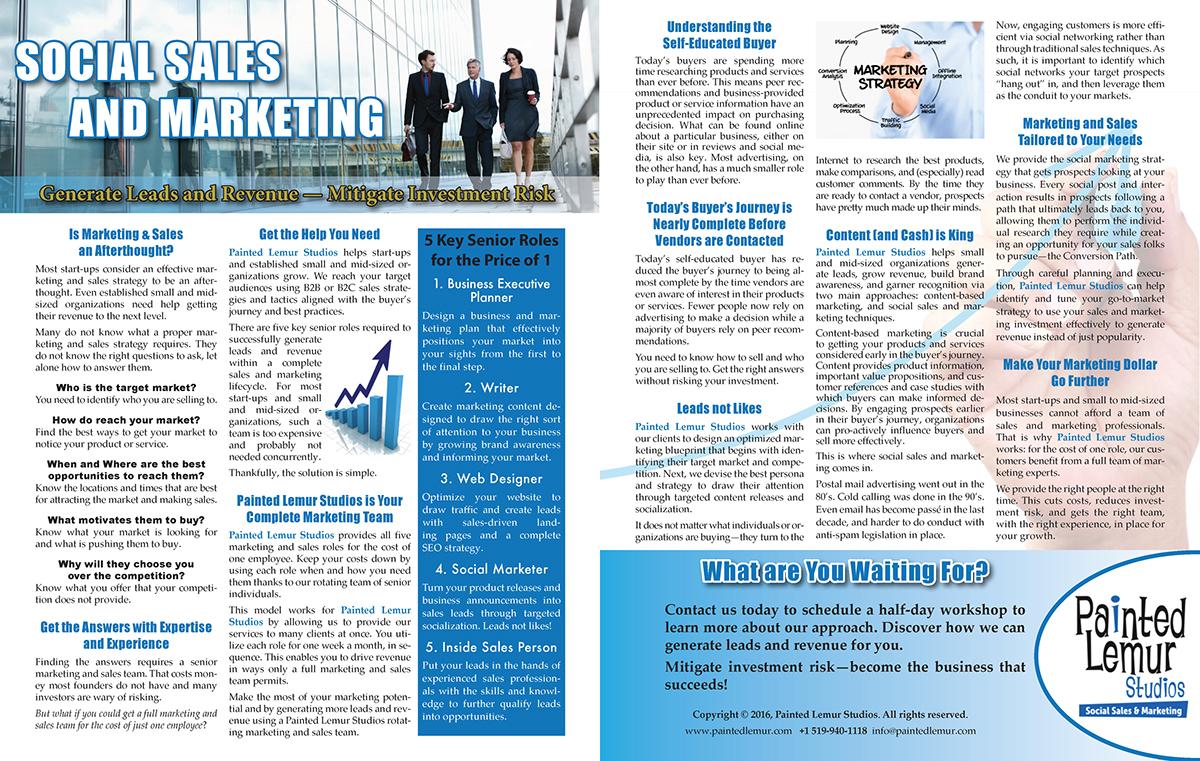online marketing brochure copywriting  Layout design
