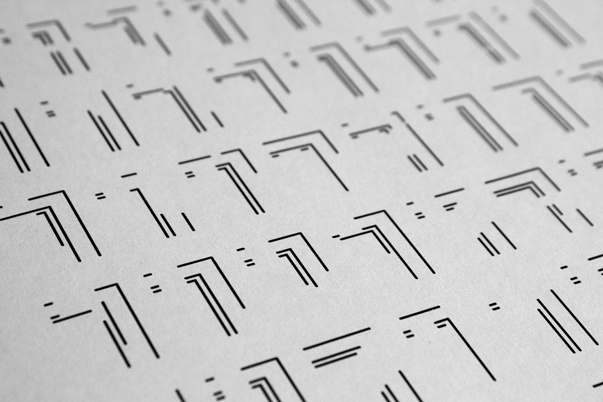ILLUSTRATION  book personal graphic design  book design geomtetry lines symbols