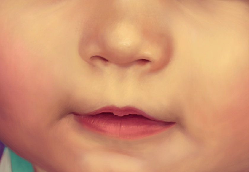 Baby Digital Painting - commission on Behance