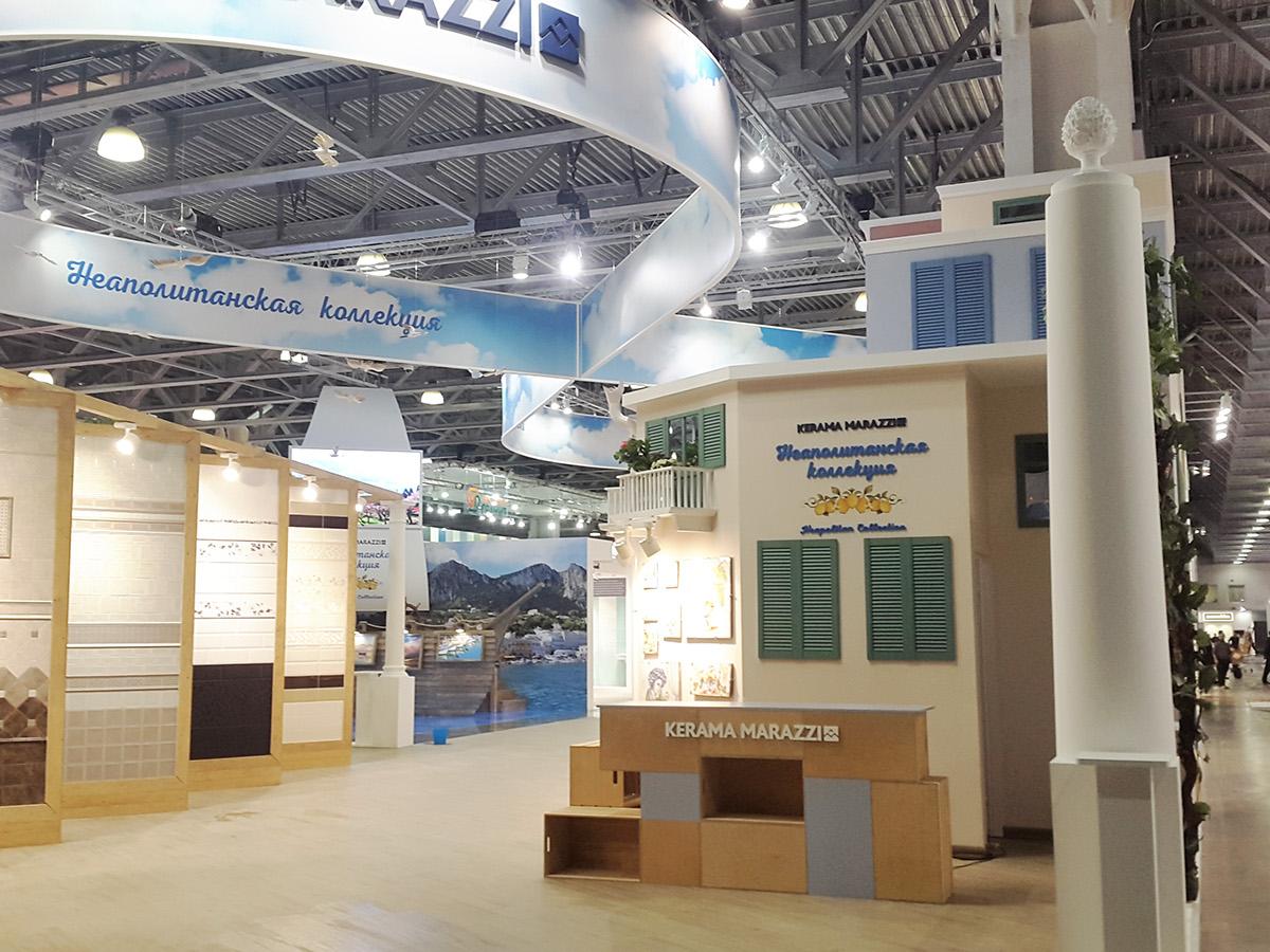 Expo Stands Interior Office 2016 : Kerama marazzi exhibition stand batimat on behance