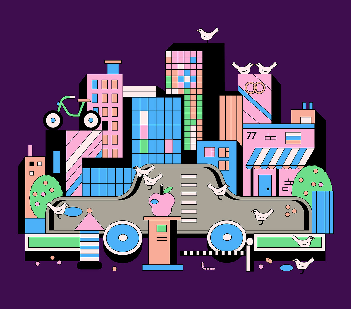 tinkoff journal editorial vector illustrations Illustrator business itwazcool