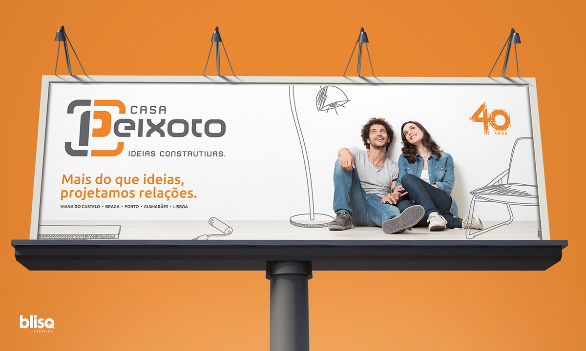 expo Outdoor graphic design  branding  Stand Portugal blisq agency