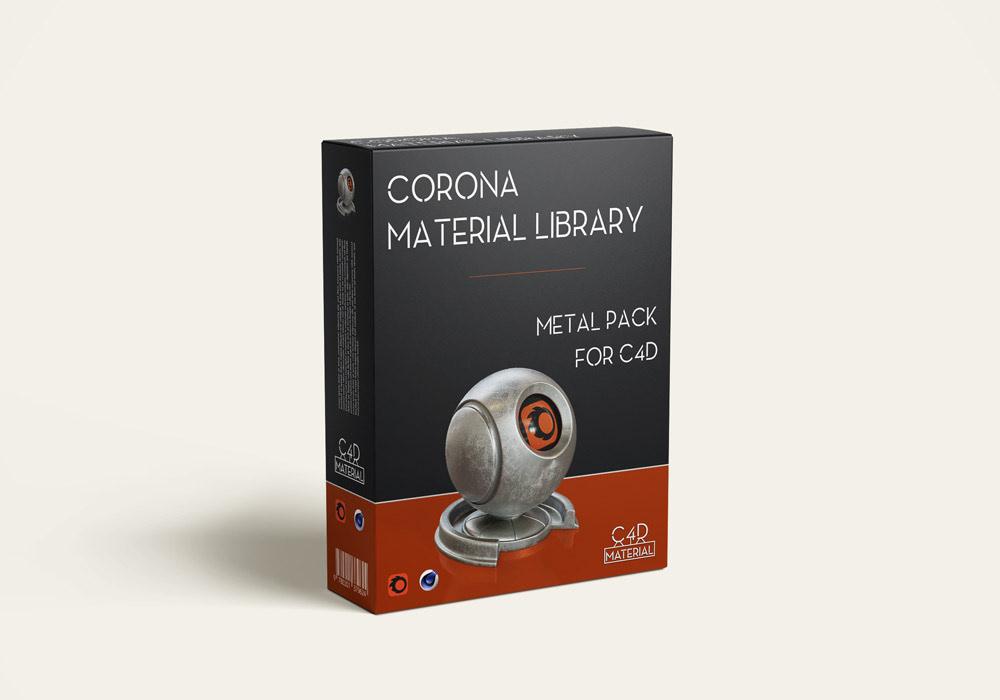corona material pack for cinema 4D - metal