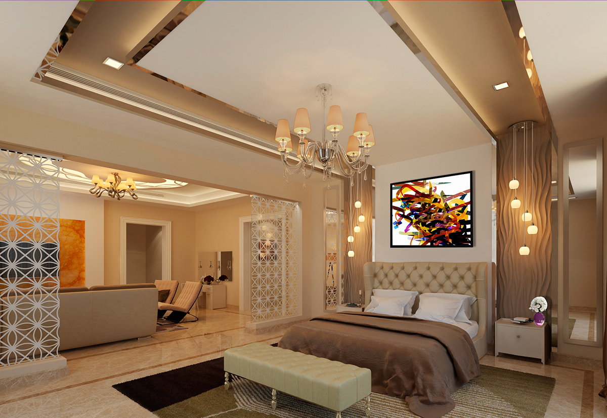 Master Bedroom Seating Area In Modern Style