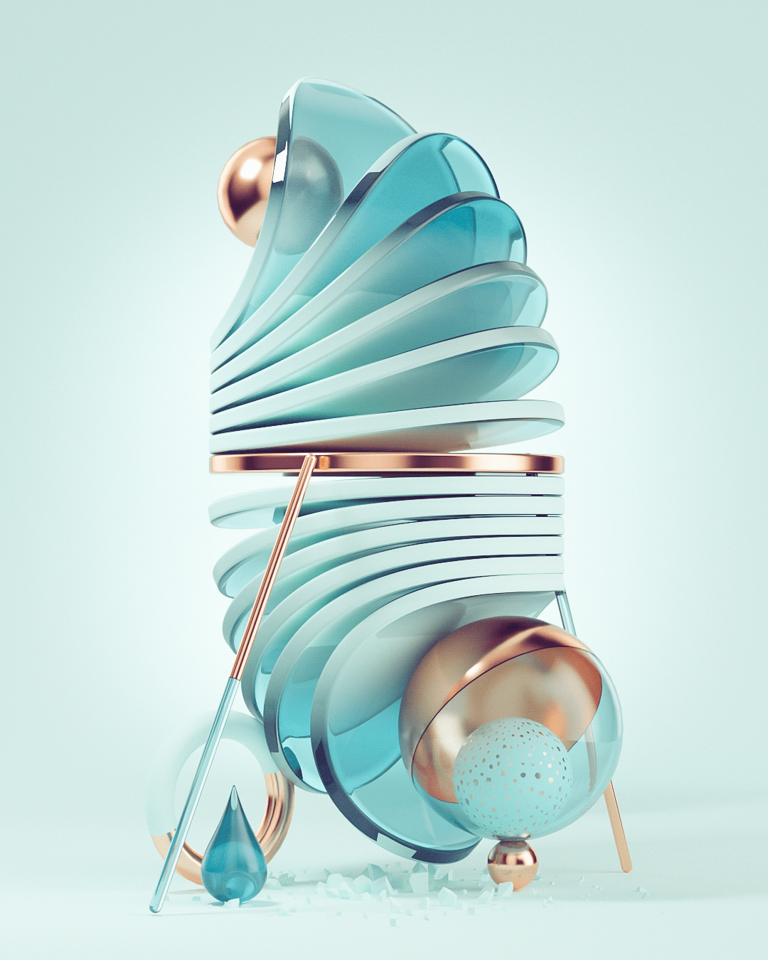 Captivating and nonsense in 3D series by Roman Bratschi