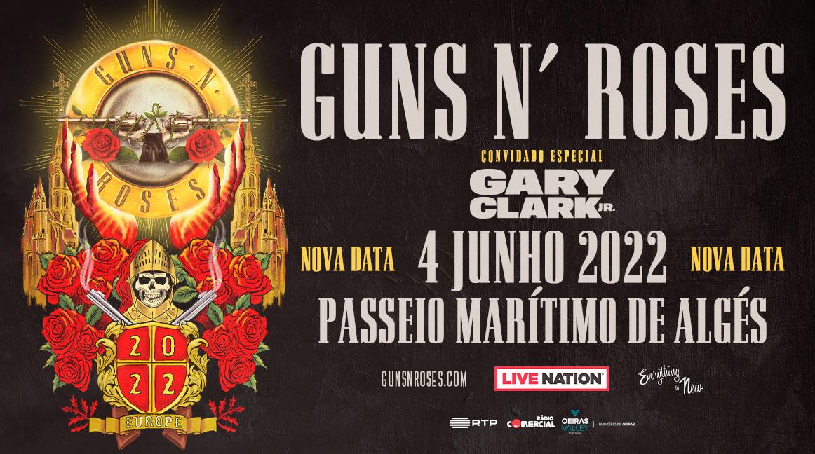 GUNS N' ROSES em Portugal a 04 de junho de 2022